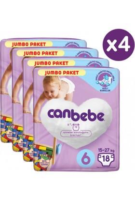 Canbebe Bebek Bezi Xl 6 Numara 72'li Jumbo Paket