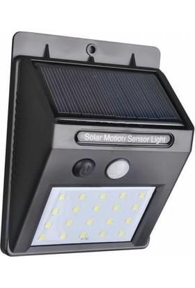 Starmax Işık Sensörlü Güneş Enerjili Solar Duvar Kapı Kamp Bahçe Lambası Fotoselli Projektör 20 LED Lambalı