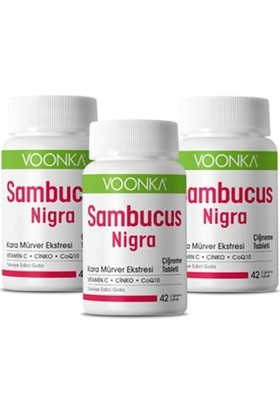 Voonks Sambucus Nigra 42 Çiğneme Tableti 3 Adet