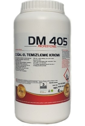 DM 405 Mineralli Doğal El Temizleme Kremi 4 kg