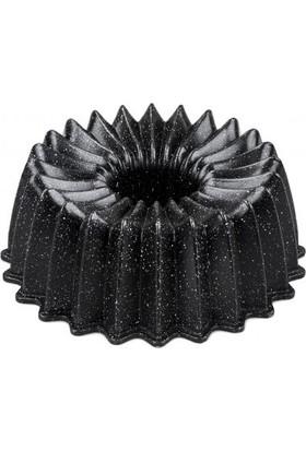 Taç Ela Döküm Kek Kalıbı Siyah 26 cm