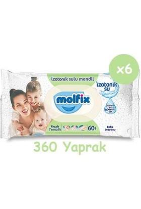 Molfix Pure&Soft 1 Beden Yenidoğan 184'lü & 6 Paket Islak Mendil 2 - 5 kg