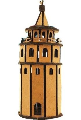 Alsa 3D Ahsap Maket Galata Kulesi