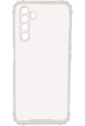 Ally Oppo Realme 6-6s Kamera Koruma Anti-Drop Silikon Kılıf Shockproof Kılıf AL-32992 Şeffaf