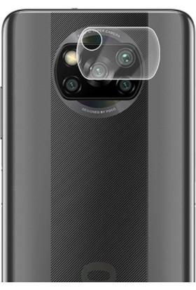Ally Xiaomi Poco X3 Tempered Cam Kamera Koruyucu AL-33133 Şeffaf