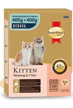 Smartheart Gold Dry Cat Food Kitten 400+400 gr Yavru Kedi Maması