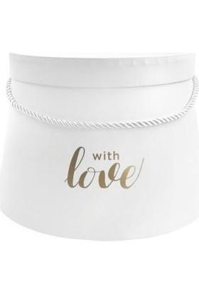 Sever Beyaz Love Konik Kutu 12cm