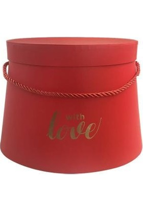 Sever Kırmızı Love Konik Kutu 12cm