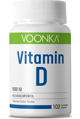 Voonka Vitamin D 1000IU 102 Yumuşak Kapsül