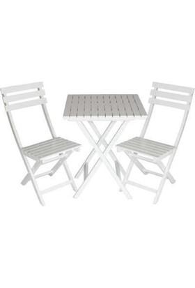 Bahçeci Ada Sandalye Beyaz