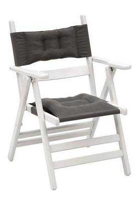Bahçeci Atina Sandalye Minderli (Beyaz)