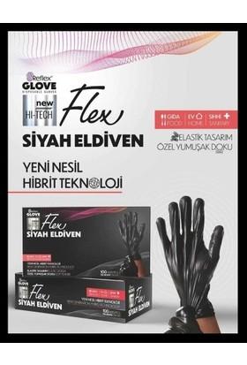 Reflex Yeni Nesil Hibrit Teknoloji Polietilen Eldiven Siyah 2 × 100'LÜ