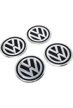 Özdemir Aksesuar Volkswagen Alüminyum Yapıştırma Jant Göbeği Siyah 4'lü 60MM