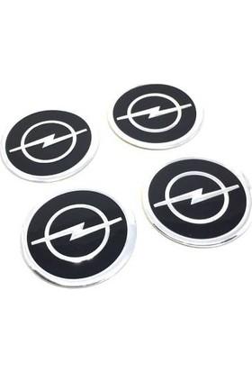 Özdemir Aksesuar Opel Alüminyum Yapıştırma Jant Göbeği Siyah 4'lü 60MM