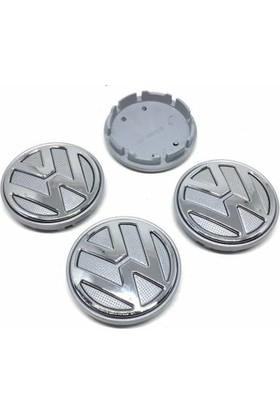Özdemir Aksesuar Volkswagen Kromlu Jant Göbeği Gri 4'lü 52/56MM 6C0601171