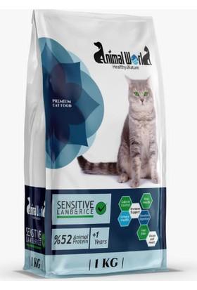 Animal World Sensitive Kuzu Etli Hassas Kedi Maması 1 Kg