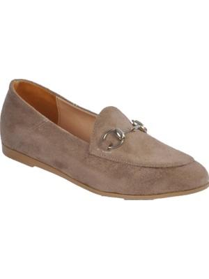 Pabucmarketi Vizon Süet Kadın Günlük Ayakkabı