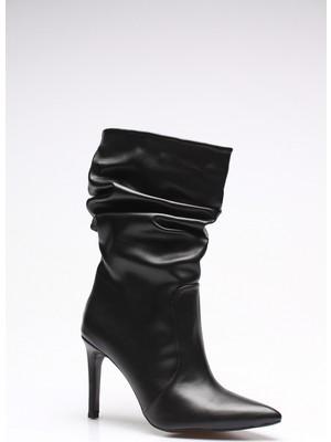 Rovigo Plus Siyah Cilt Kadın Çizme