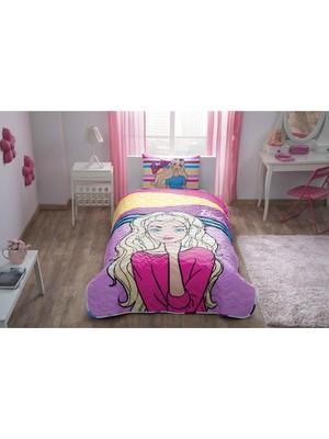 Taç Barbie Dream Lisanslı Yatak Örtüsü Seti Tek Kişilik