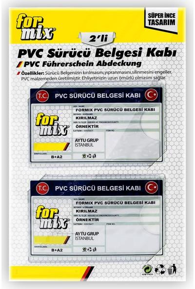 For Mix Pvc Ehliyet ve Kimlik Kabı 2'li