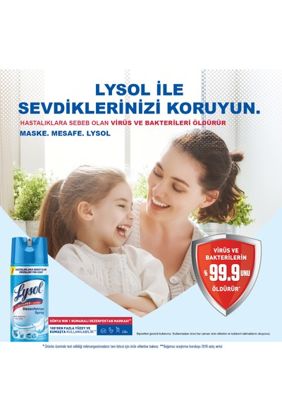 Lysol Dezenfektan Sprey Temizliğin Esintisi 6'lı, Yüzeyler için, 6x400 ml