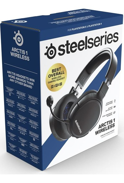 SteelSeries Arctis 1 Wireless Kablosuz PS5 ve PS4 Edition Gaming Oyuncu Kulaklığı