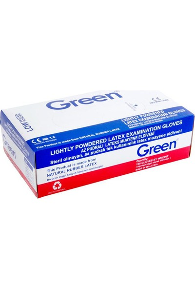 Green Pudralı Eldiven Beyaz M