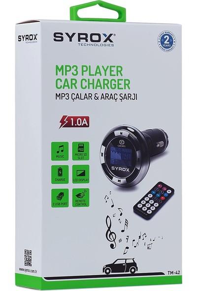 Syrox 2.1A Mp3 Çalar & Araç Şarjı Transmitter SYX-TM42