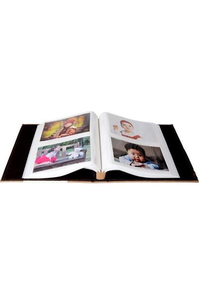 Gökkuşağı 10X15 cm 200 'lük Deri Memory Mavi Renk Fotoğraf Albümü
