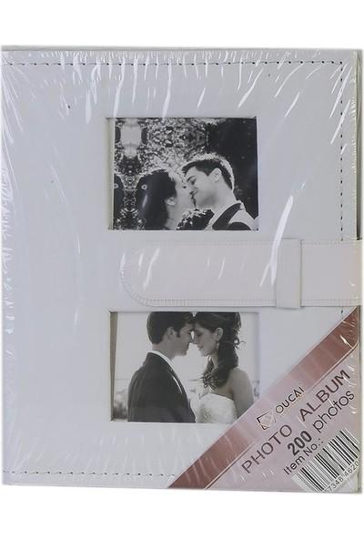 Gökkuşağı 13X18 cm 100 'lük Beyaz Deri Fotoğraf Albümü