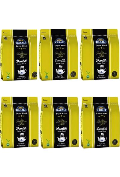 Karali Çay Karali Premium Demlik Poşet Siyah Çay 25'li x 6 Paket
