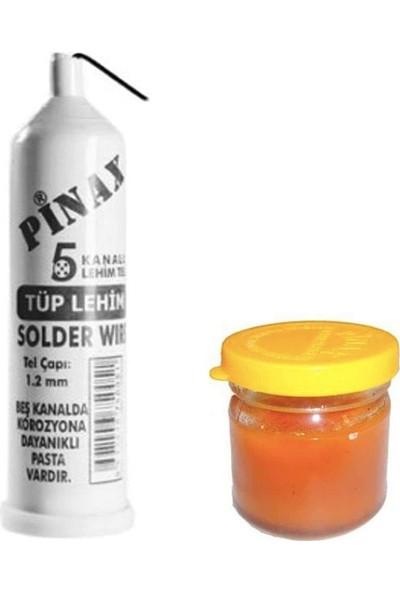 Fitfiyat Pinax 5 Kanal Lehim Teli ve Lehim Pastası Leyim Pasta Tel