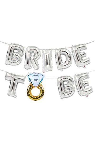 Partifabrik Bride To Be Folyo Balon Seti 40 Cm