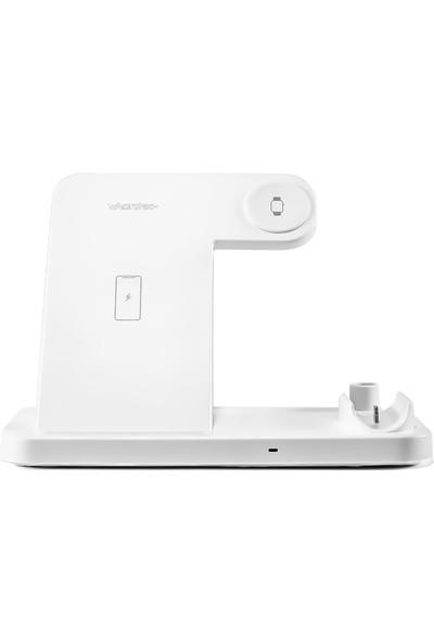 Marstec 4in1 Kablosuz Şarj Cihazı Beyaz