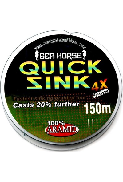 SeaHorse Sea Horse Quick Sink 0,16 mm 150MT 4x Ipek Misina