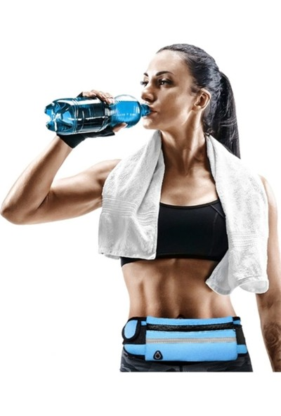 Kuulaa Ultra Ince Su Geçirmez Koşu Bel Çantası Spor Bel Çantası