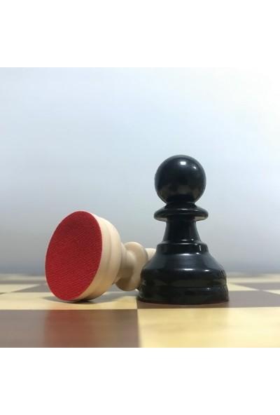 Yeni Satranç Floklu Satranç Taşları - Ahşap Satranç Zemini