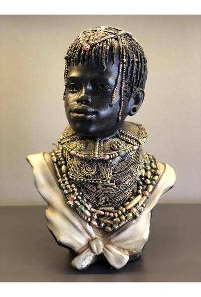 Arem Dekor Aksesuar Afrikalı Baş Obje