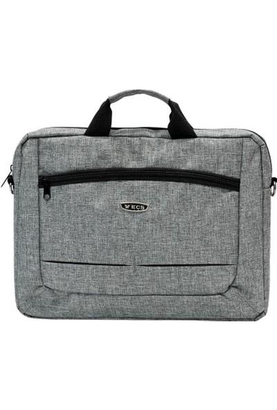 ECS Eçs Kanvas Kumaş 17 Inç Laptop Çantası (189-5 Gri)