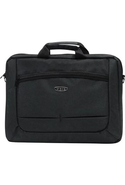 ECS Eçs Kanvas Kumaş 17 Inç Laptop Çantası (189-5 Siyah)