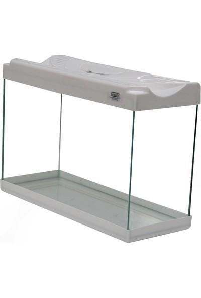Kanki Pet Renkli Kapak Mini Akvaryum 30 cm