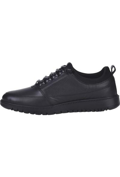 Balayk 298 Siyah Deri Erkek Sneakers Spor Ayakkabı