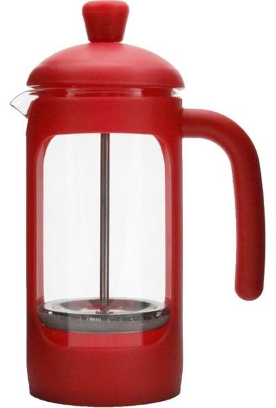 Yitian French PRESS*350 Ml*silikonlu* Borosilikat Cam*filtre Kahve Hazırlama Bitkiçayı Demleme Potu