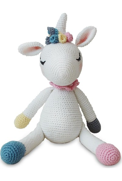 Dahiyizbiz Büyük Unicorn Amigurumi Oyuncak