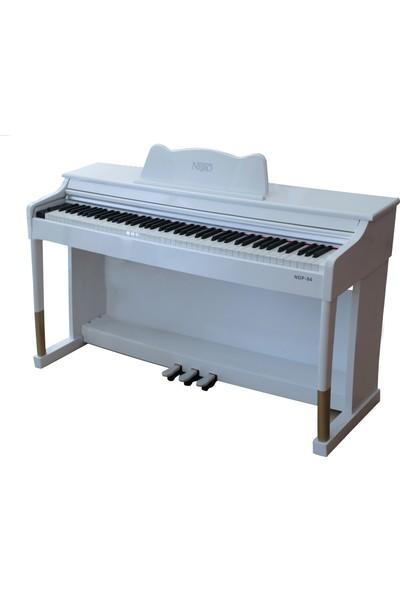 Neiro NDP-194 Dijital Piyano - Parlak - Lake + Tabure + Kulaklık