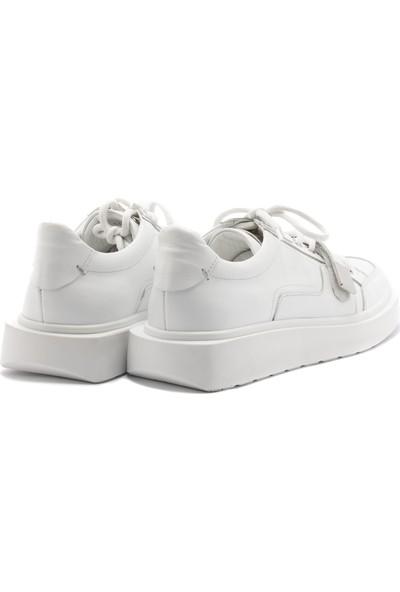 John May Erkek Oxford/ayakkabı 10674-5 Beyaz
