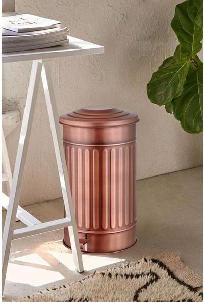 Evim Tatlı Evim Copper Paslanmaz Metal Büyük Boy Çöp Kovası 24 Litre