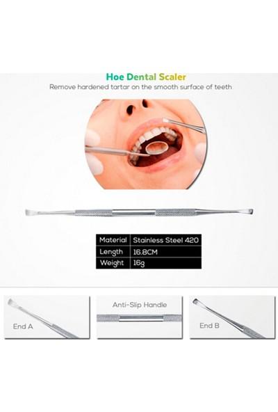 Buyfun 4'lü Paslanmaz Çelik Diş Araçları Kiti Diş Hekimleri