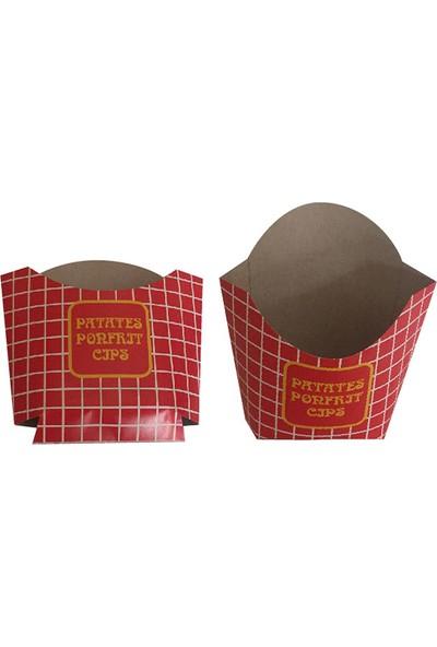 Yaşatan Kutu Patates Cips Kutusu Krome Karton 220 gr 1 Koli 3000'LI