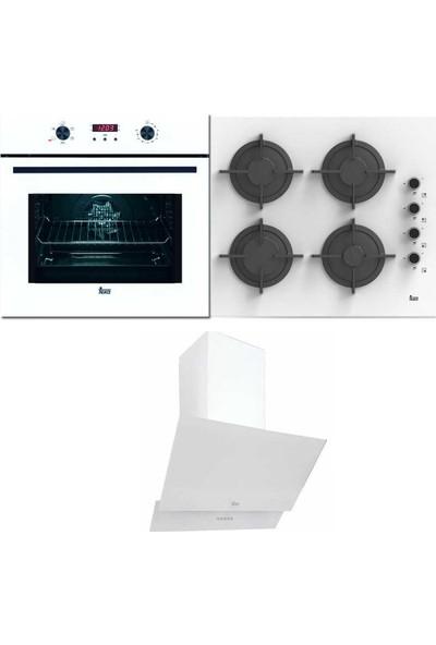 Teka Chef 6 Ankastre Üçlü Set (Hak 627 B Fırın + Tvt 60.1 Davlumbaz + Pac 60 4g Aı Al Cı Ocak)